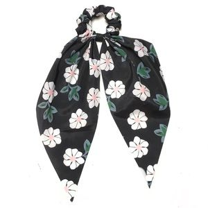 Floral Scrunchie Scarf Hair Tie Ponytail Holder
